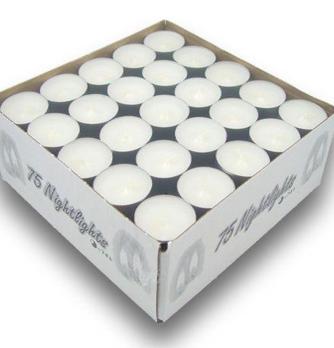 Teelichter 75St Weiß in Aluschale