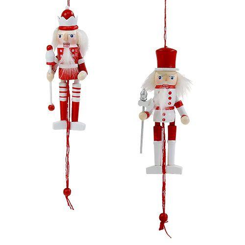 Nussknacker Figur Rot, Weiß 12,5cm