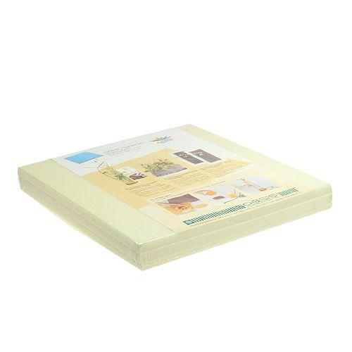 OASIS® Designer Platten Ivory Elfenbein 3St