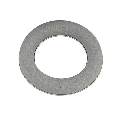 Steckschaum Ring Kranz Grau H3cm Ø20cm 6St