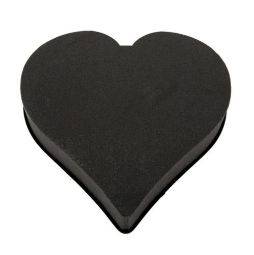 OASIS® Eychenne® All Black Herz Schwarz 33cm 2St