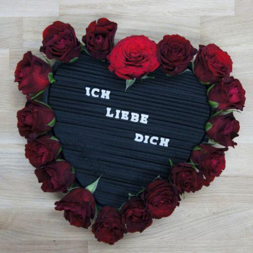 Steckschaum Herz Steckmasse Schwarz 38cm 2St