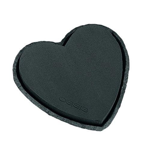 OASIS® Steckschaum Herz Schwarz 17cm 2St