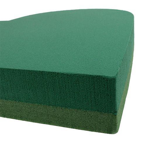 Steckschaum Herz Steckmasse Grün 46cm x 45cm 2St