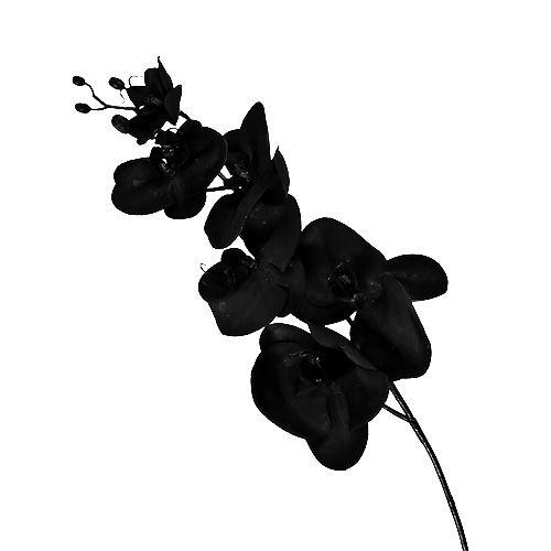 Orchidee schwarz L80cm