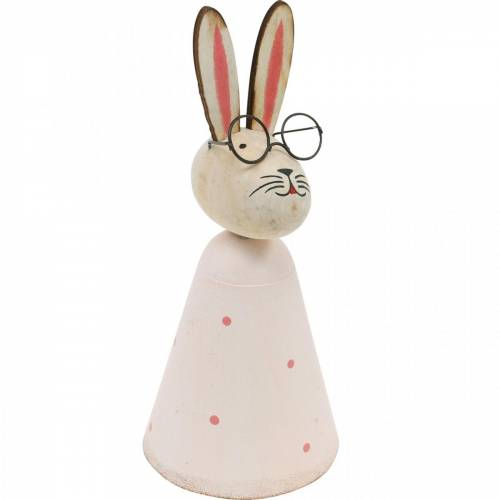 Osterdeko, Hase mit Brille, Frühlingsdeko, Metallhase, Tischdeko