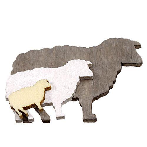 Osternstreu Schafe sort.2-6cm Natur 90St