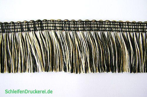 Franse Gold-Schwarz selbstklebend 25m