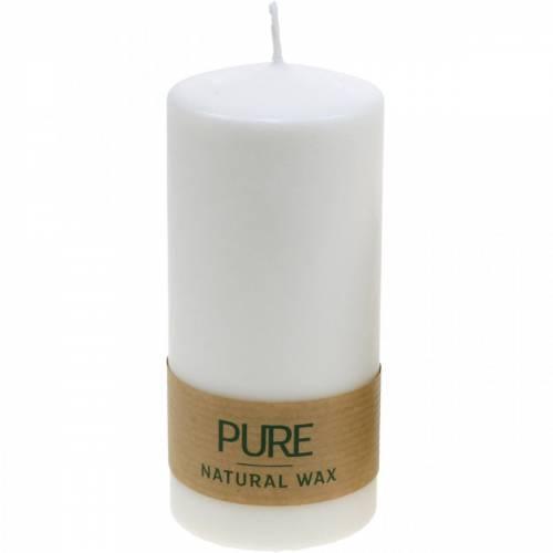 Pure Stumpenkerze 130/60 Naturwachs Kerze nachhaltig Stearin und Raps