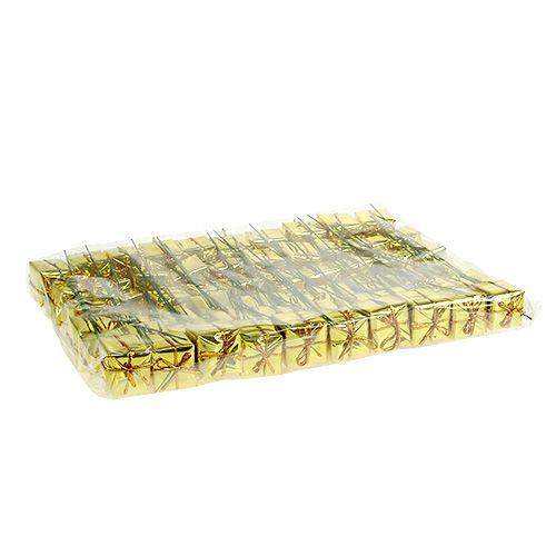 Päckchen 2,5cm am Draht gold 60St