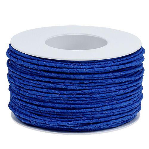 Papierkordel Draht umwickelt Ø2mm 100m Blau