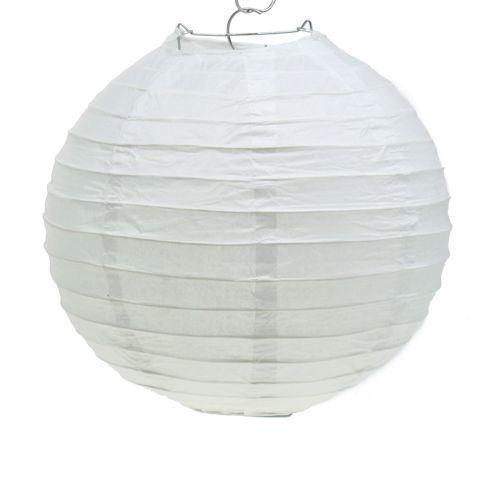 Lampion aus Papier Weiß Ø20cm