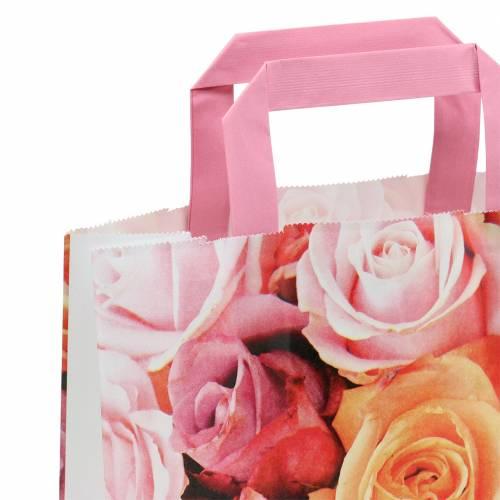 Papiertasche Rose 22cm x 10cm x 28cm 25St