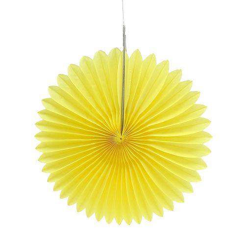 Party-Deko Wabenpapier Blume Gelb Ø20cm 3St