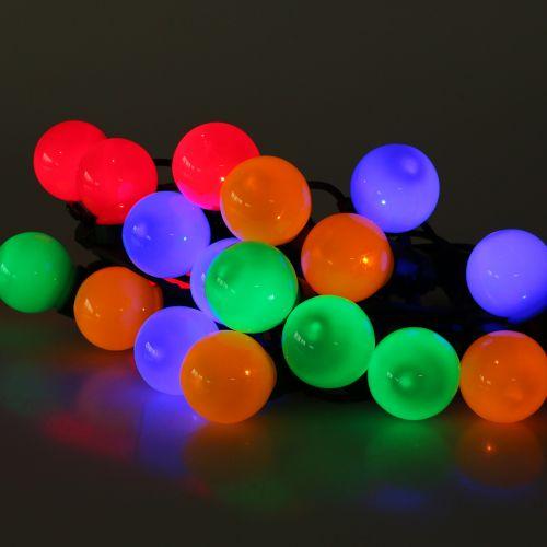Party-Lichterkette bunt für außen 20 LEDs 9,5m