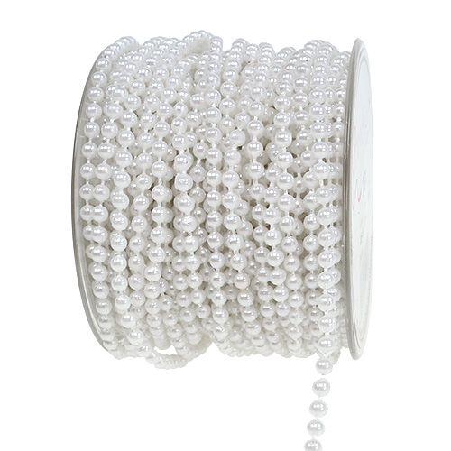 Perlenband Weiß Ø4mm 20m