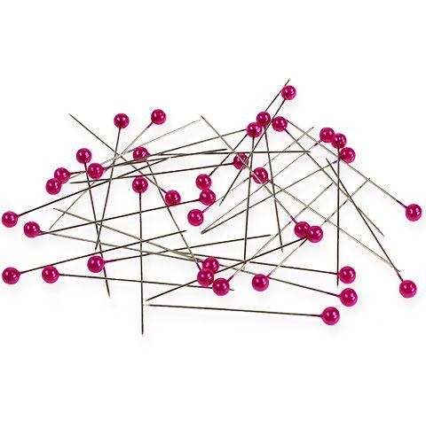 Perlkopfnadeln Ø6mm 65mm Pink