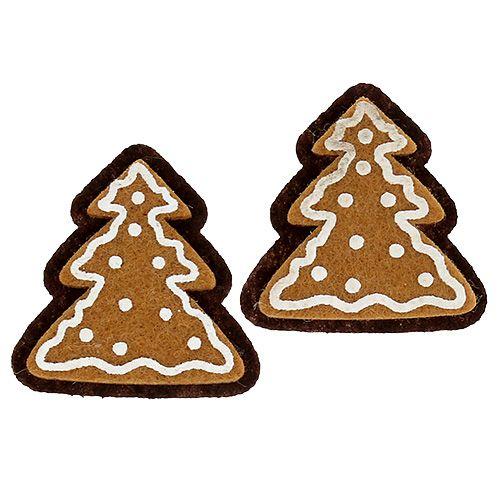 Filz-Sticker Pfefferkuchen Tanne 4,5cm 12St