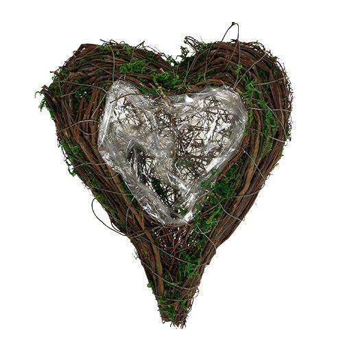 Pflanzgefäß Herz Rebe Moos 21cm x 26cm H6cm