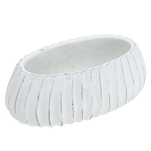 Pflanzschale oval Weiß 26cm x 13,5cm H11cm