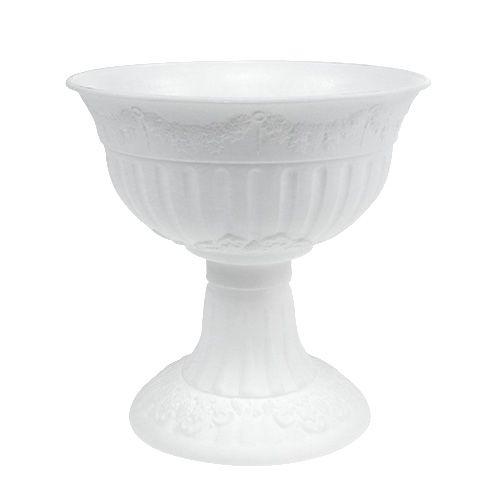 Plastik Pokal Ø20cm 20cm Weiß