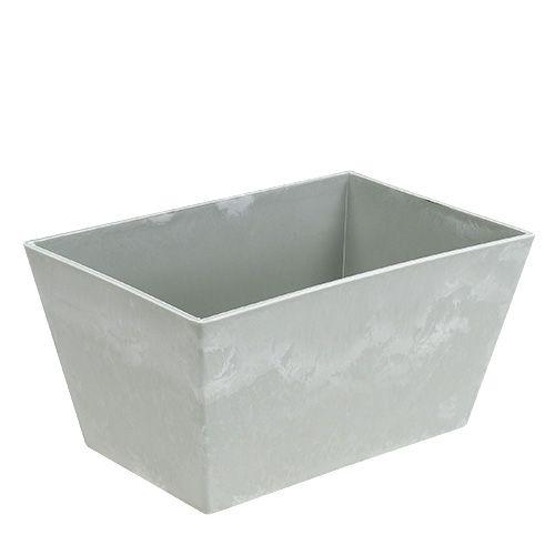 Plastikschale eckig Grau 20,5cm x 13,5cm H10,5cm