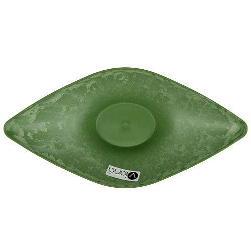 Plastikschale oval 34cm x 17,5cm H10cm Grün, 1St