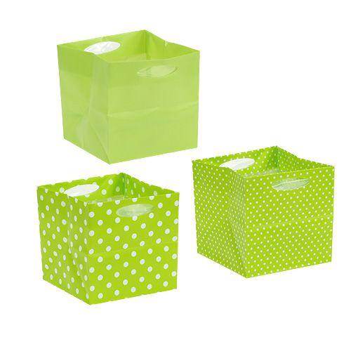 Plastiktasche 10,5cm x 10,5cm x 10,5cm Grün 12St