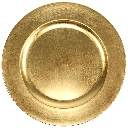 Plastikteller Gold Ø17cm 10St