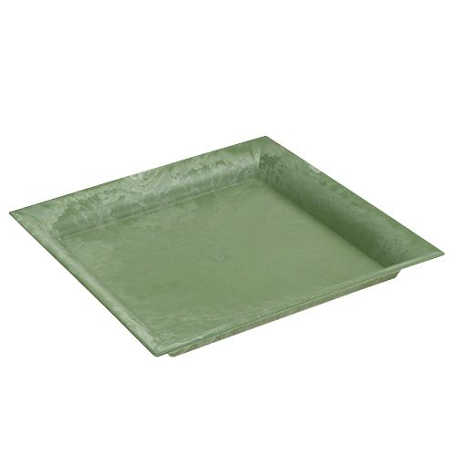 Plastikteller Grün eckig 26cm x 26cm