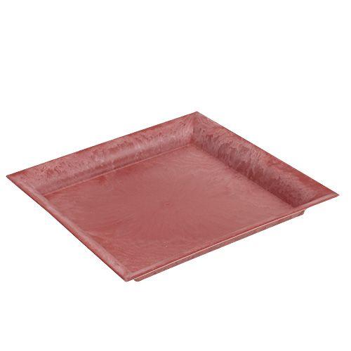 Plastikteller Rot eckig 26cm x 26cm