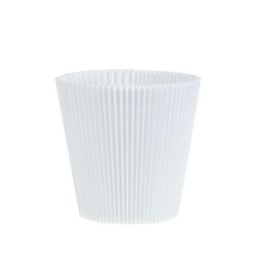 Plisseemanschetten Weiß 10,5cm 100St