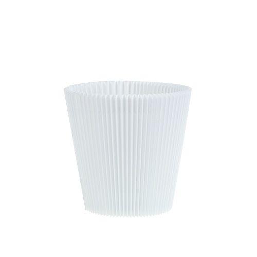 Plisseemanschetten Weiß 8,5cm 100St