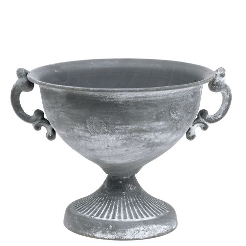 Pokal Grau Ø20cm H17,5cm