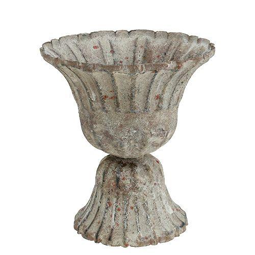 Pokal Grau Antik Optik Ø12cm H13,5cm