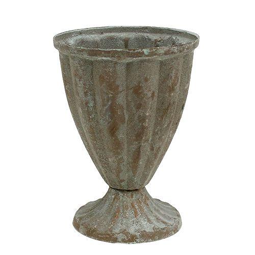 Pokal Grau, gewaschen Ø9cm H12,5cm