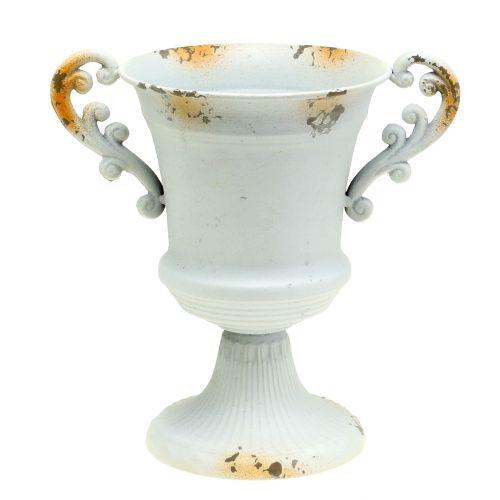 Pokal Antik Weiß Ø14cm H21cm