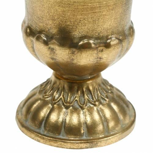 Pokal Antiker Look Golden Metall Ø9cm H12,5cm