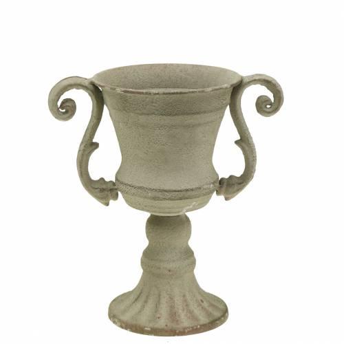 Pokal Schale Grau Ø11cm H19cm