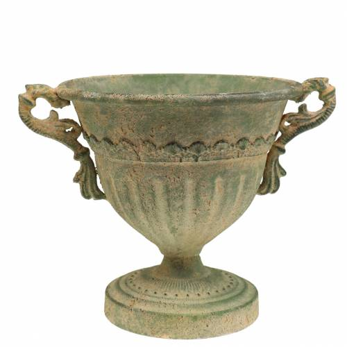 Pokal Schale Shabby Chic Grün Ø19cm H18cm