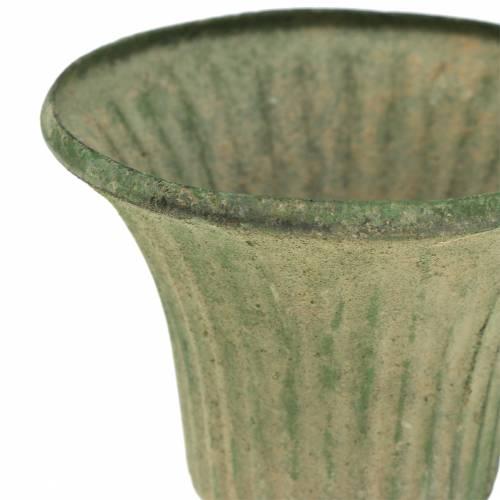 Pokal Kelch Antik Grün Ø9cm H10cm