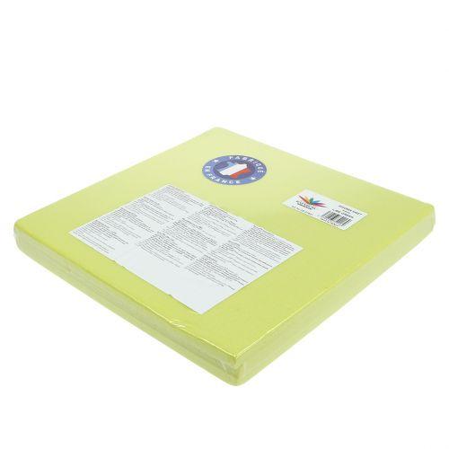 Steckschaum Designerplatte Grün 34,5cm × 34,5cm 3St