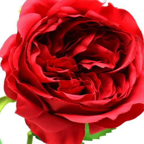 Rose Kunstblume Rot 72cm