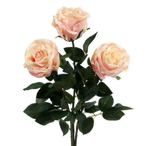 Rosen künstlich Hellrosa Ø10cm L65cm 3St