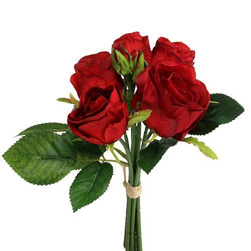 Rosenstrauß Rot 25cm