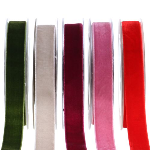 Samtband verschiedenen Farben 20mm 10m
