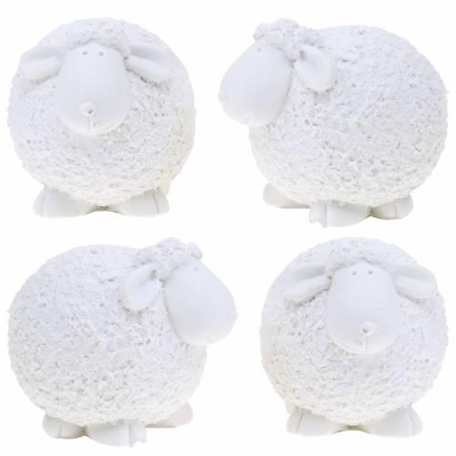 Osterdeko Schaf Weiß H7cm 4St