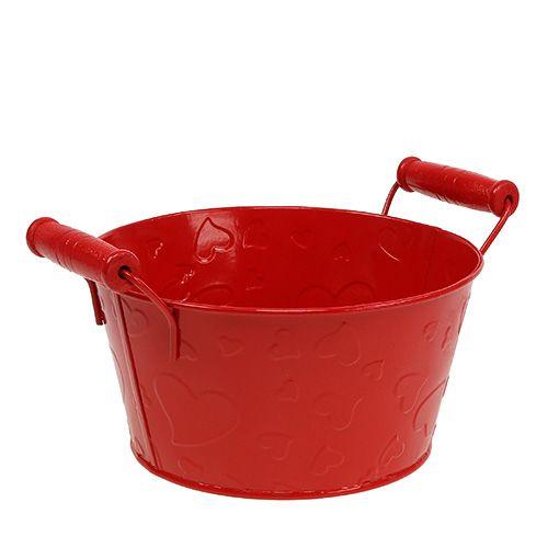 Schale mit Herzmuster Rot Ø17,5cm H9cm 6St