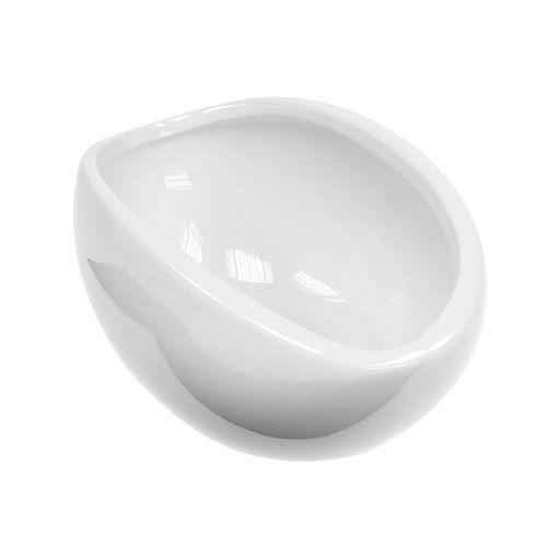 Deko-Schale Keramik 15cm x 9,5cm H7cm Weiß 4St