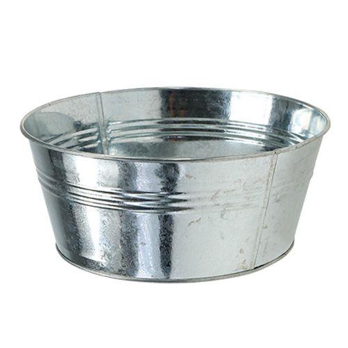 Blechschale rund Silber glänzend Ø22cm H9,5cm 6St